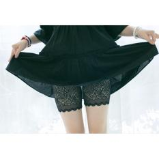 Quần Mặc Trong Váy Ren Phong Cách Hàn Quốc (đen)