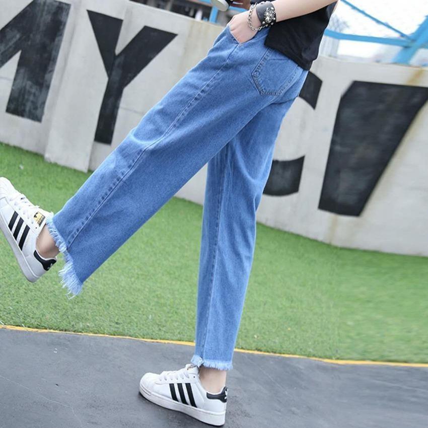 【shop thanh lý toàn bộ mặt hàng】 quần ống rộng dáng lửng trẻ trung năng động bigsize-city fashion 0508
