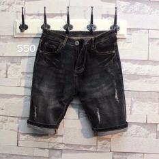 Quần short jean nam LyLyFashion 550 (đen)