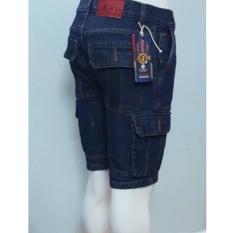 Quần short jean túi hộp cao cấp (Xanh)