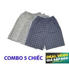 Quan sot ngan – quần short nam Caro26 (Combo 5 chiếc quần )- mặc ngủ, mặc ở nhà, chất cực mát – Hàng Việt Nam Xuất Khẩu.