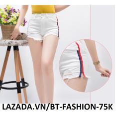 Quần Sọt Đùi (Short) Kaki Lưng Cao Phối Lưới – BT Fashion SO002D (Trắng)