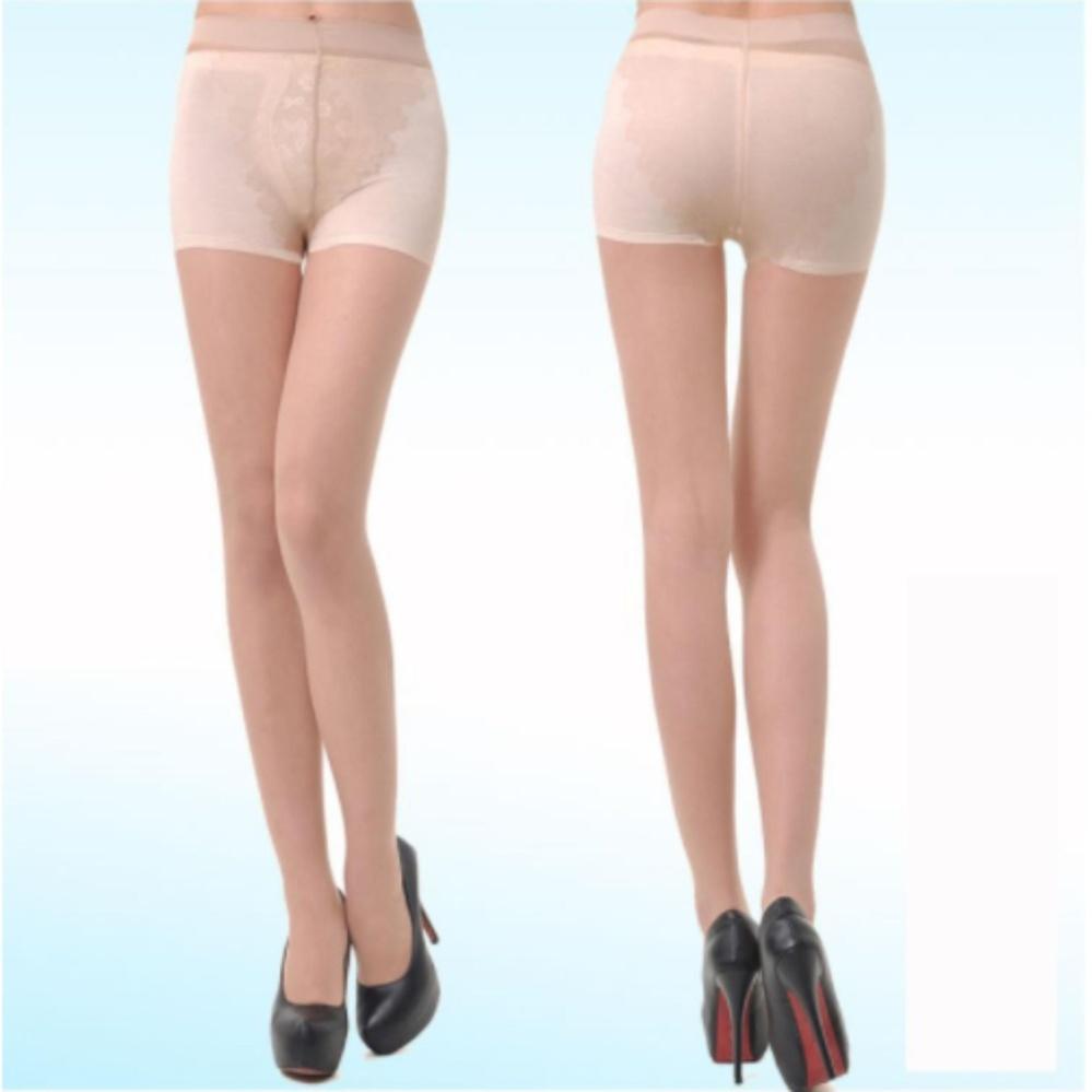 Quần tất nữ 3D thời trang dai, mịn (màu Da + Đen)