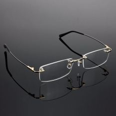 Rimless Glasses Lightest Rx Optical Eyeglasses Memory Titanium Spectacles Frame – intl