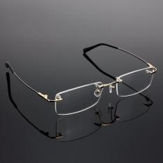 Rimless Glasses Rx Optical Eyeglasses Memory Spectacles Frame Men Hot