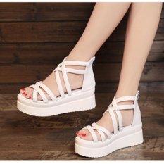 S011T – Giày sandal đế xuồng phong cách Hàn Quốc