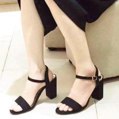 Sandal cao gót bản ngang Dolly & Polly