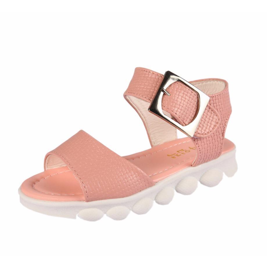 sandal cho bé gái đi hộc chống trượt đế mềm phiên bản hàn quốc (hồng phần)