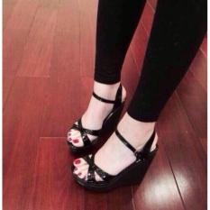 Sandal đế xuồng đen(loại 12p)
