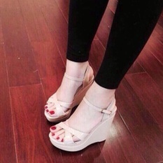 Sandal đế xuồng kem( loại 12cm)