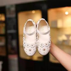Sandal hoa baby Gokichi B029 (Trắng)