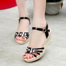 Sandal nữ cao cấp – Size 35 đến 40 – 7 phân – đen