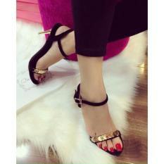 Sandal xu gót vàng