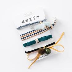 Set 4 dây buộc tóc nơ Hàn Quốc cao cấp