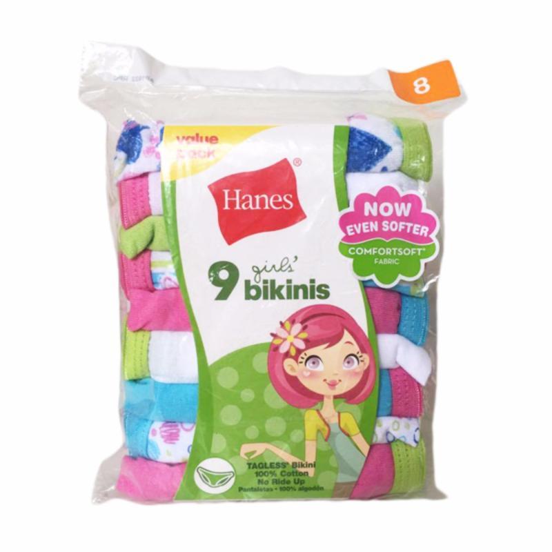 Nơi bán Set 9 quần lót bé gái Hanes Grils' Bikinis