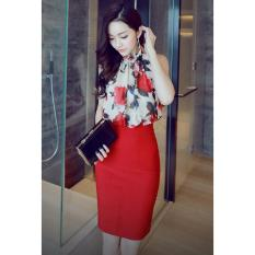 Cập Nhật Giá Set áo yếm + chân váy ôm Misa Fashion MS282 / Đỏ  MisaFashion..