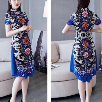 OE680FAAA88JTTVNAMZ-15840948 - Set bộ áo dài cách tân in họa tiết và chân váy SET067