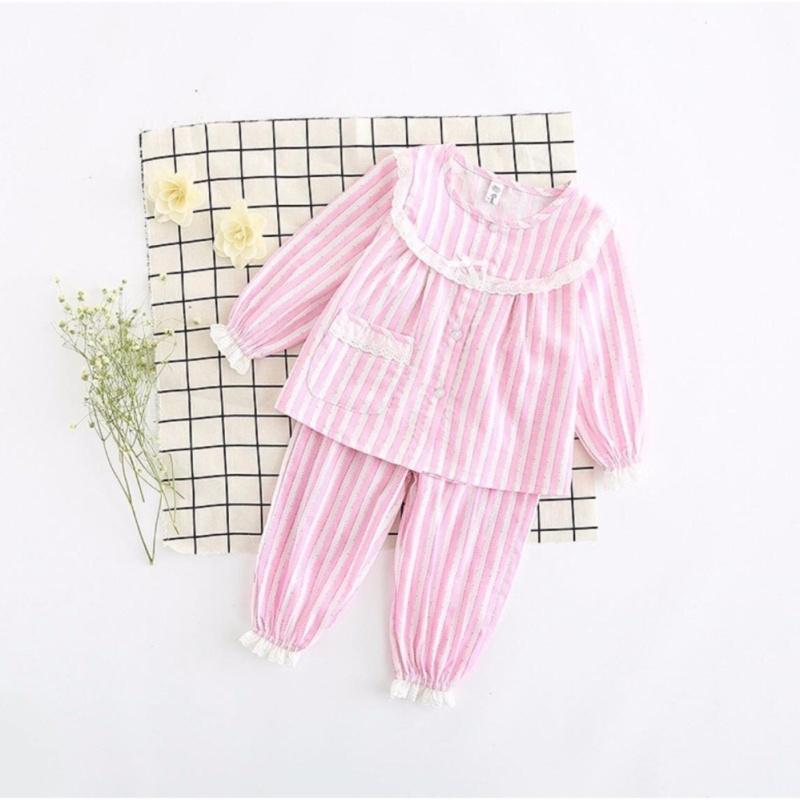 Nơi bán Set bộ đồ ngủ hồng cho bé gái