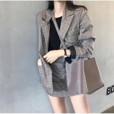 Set bộ vest nữ caro (áo vest+chân váy) size M