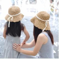 Set mũ cặp mẹ và bé gái DDL8(Kem)