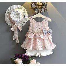 set váy cực yêu cho bé đi chơi đi biển tặng ngay mũ (M74)