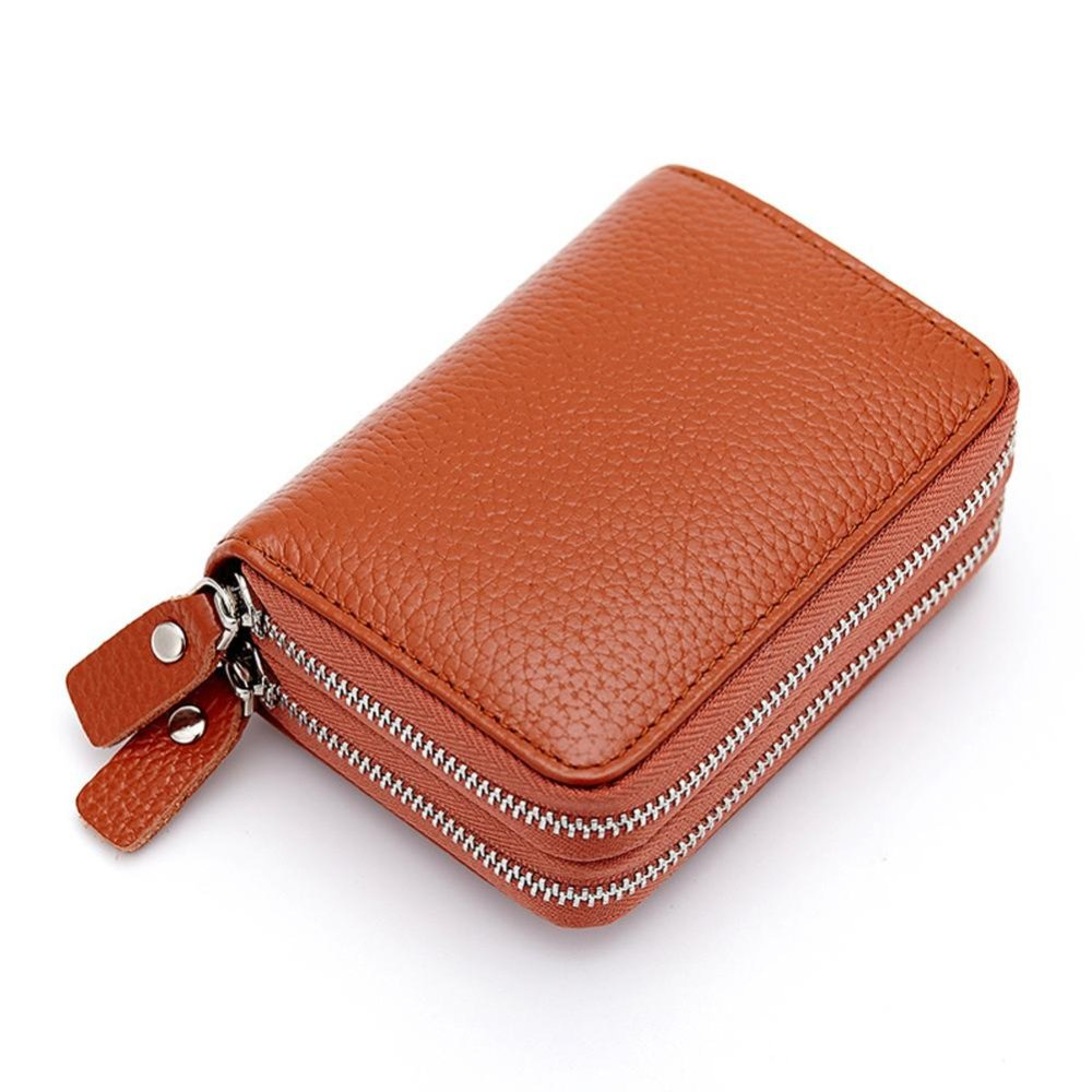 Short Wallet Genuine Leather RFID Blocking Safe Card Holder Forwomen - intl ...