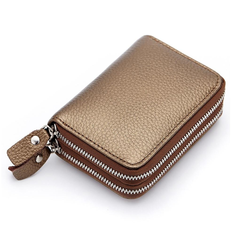 ... Short Wallet Genuine Leather RFID Blocking Safe Card Holder Forwomen - intl ...