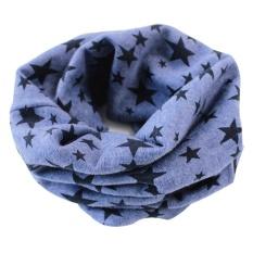 Stars Children's Cotton Neckerchief Kids Boy Girl Unisex Scarves Shawl Winter Knitting kerchief Blue – intl