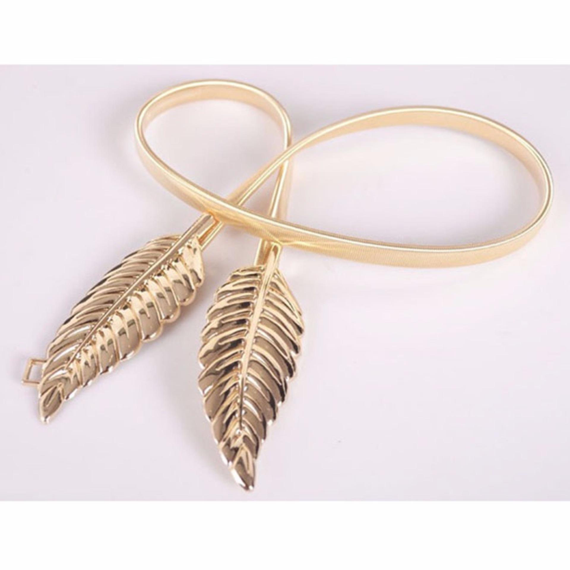 Thắt lưng nữ mặc đầm chiếc lá (Vàng)
