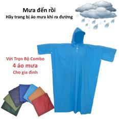 Bảng Báo Giá Trọn bộ combo 4 áo mưa dành cho cả gia đình  VinaShop