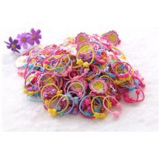 Túi 50 dây buộc tóc màu sắc khác nhau cho bé gái