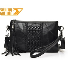 Túi cầm tay đeo chéo Clutch Rosy Cao Cấp RS2 (đen)-CAM KẾT HÀNG LOẠI 1