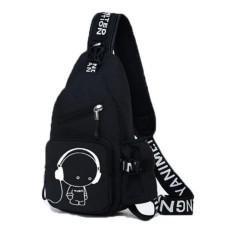 Túi đeo chéo 1 QUAI thể thao du lịch MUSIC5 (Đen)