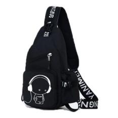 Túi đeo chéo 1 QUAI thể thao du lịch MUSIC6 (Đen)