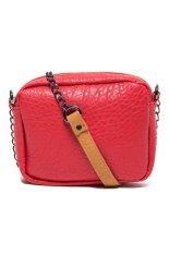 Túi đeo chéo dây kim loại LZD (Hồng)
