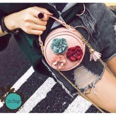 Túi Đeo Chéo Nữ Kiểu Dáng Vintage ( Hồng )