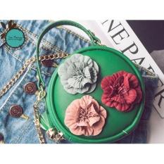 Túi Đeo Chéo Nữ Kiểu Dáng Vintage ( xanh lá )