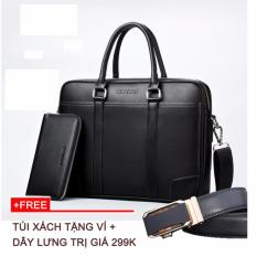 Túi đeo công sở tặng ví dài +1 dây lưng màu ngẫu nhiên, TV165, thời trang Azado