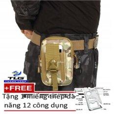 Giá bán Túi Đeo Hông Cao Cấp Tặng Kèm Miếng Thép Đa Năng 12 Công Dụng 208057-192-23(xanh ngụy)