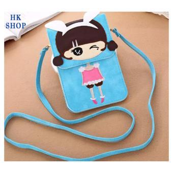 Túi điện thoại cô gái xinh xắn HK SHOP G4 (Blue)