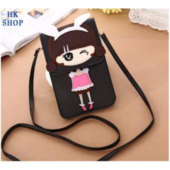 Túi điện thoại cô gái xinh xắn HK SHOP G5 (Đen)