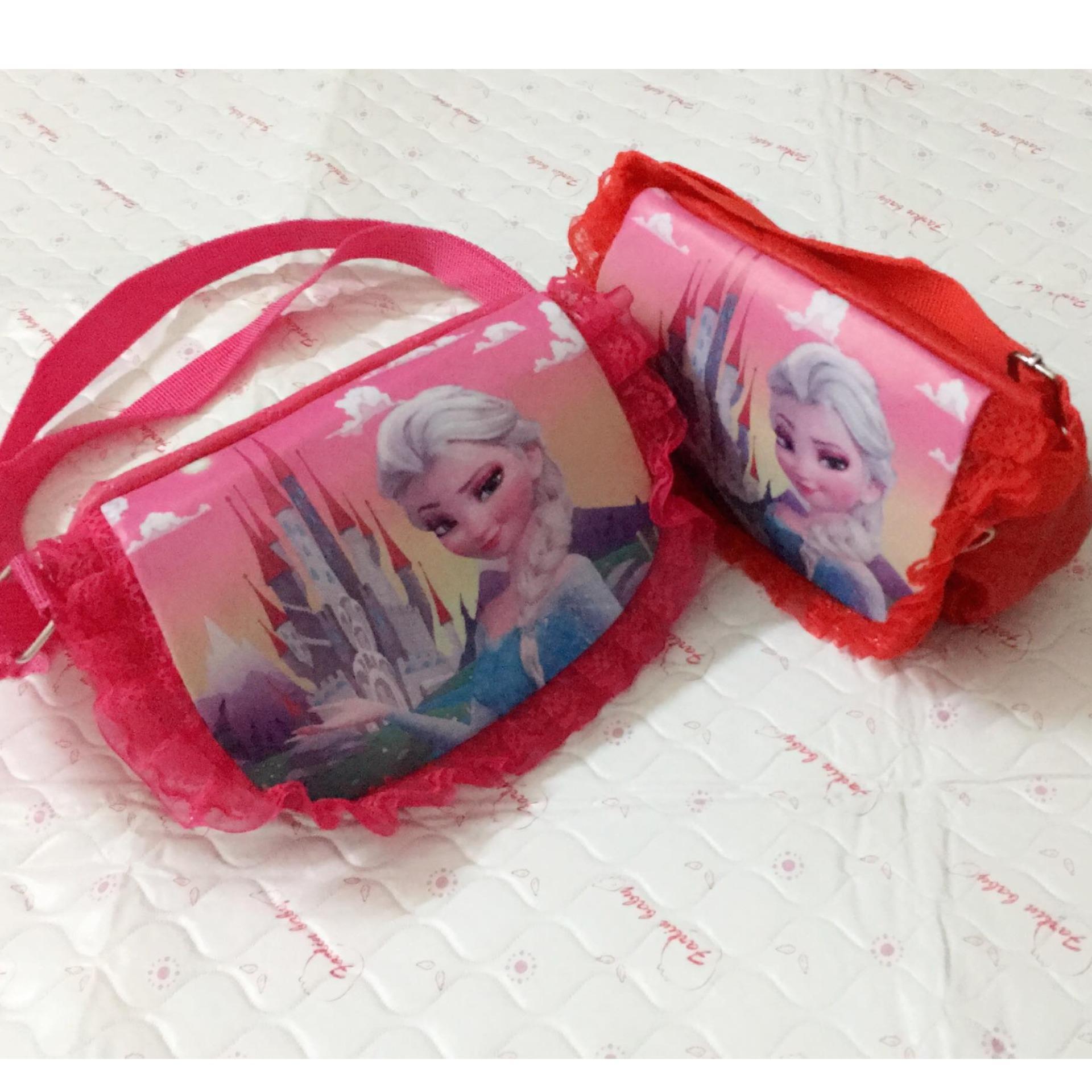 Túi elas 2018 chốt nam châm XNC03 ( đỏ, hồng )