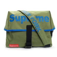 Túi mang chéo trời trang Supreme xanh nhạt