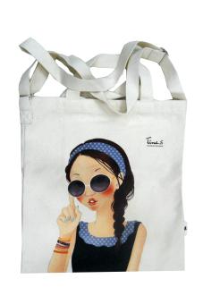 Túi vải đeo vai Fascy Sunglass Tina (Trắng)