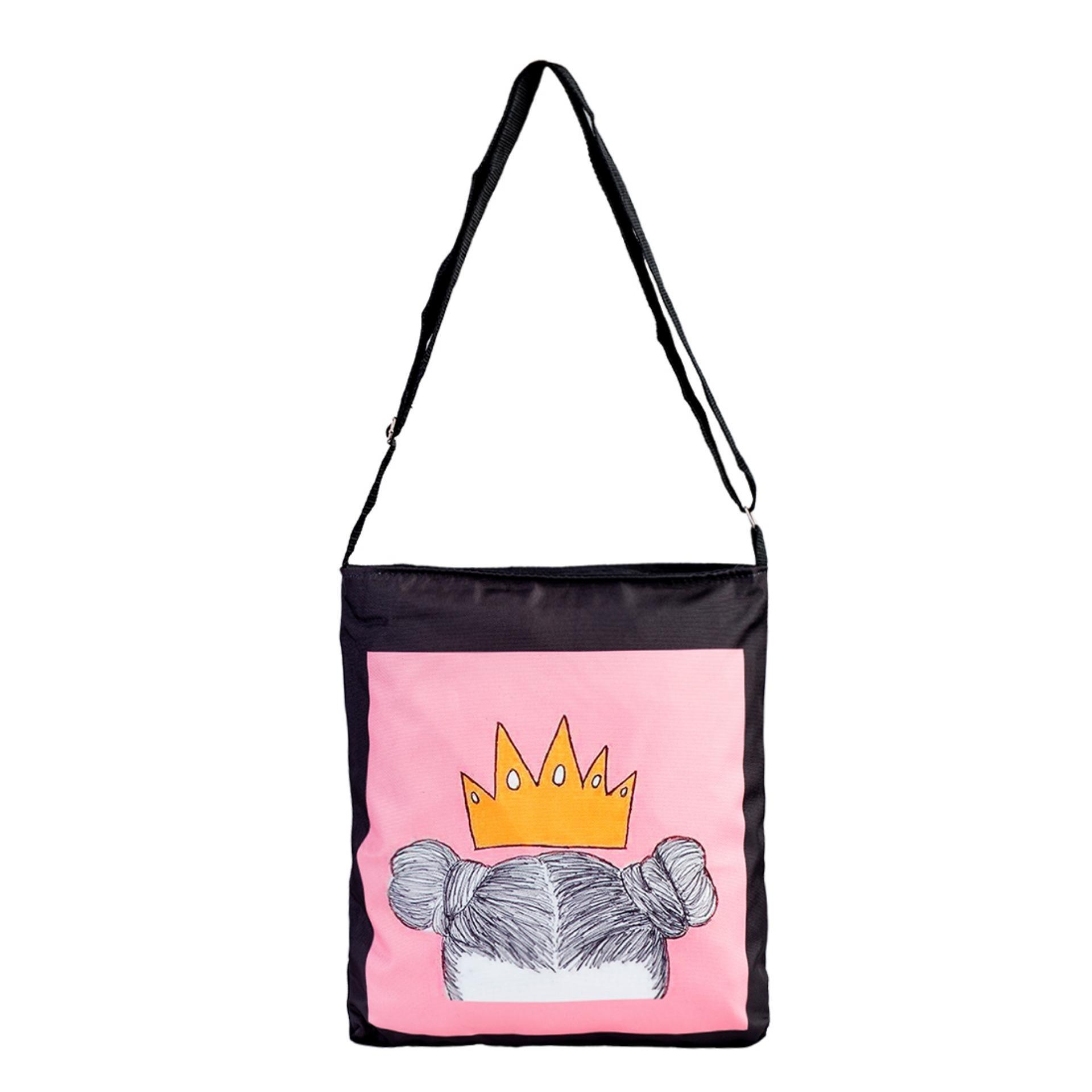 Túi Vải Tote Bag Có Dây Đeo Chéo Đầu Hồng XinhStore