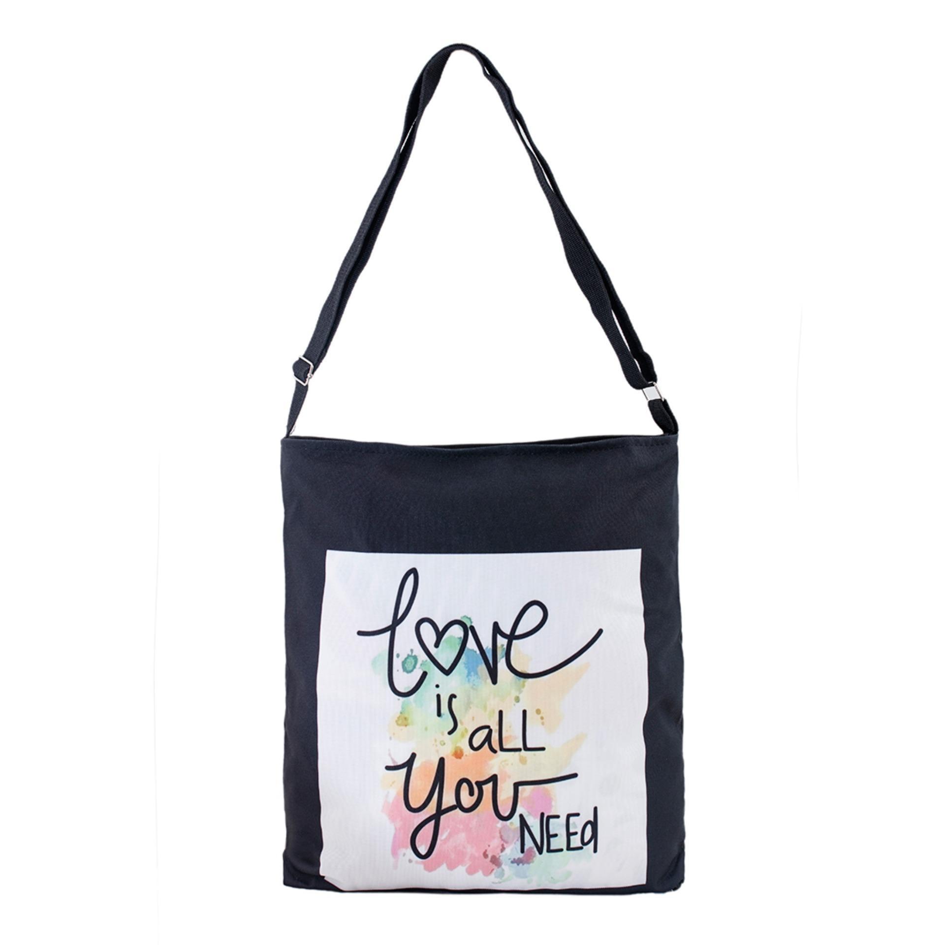 Túi Vải Tote Bag Có Dây Đeo Chéo Love Mới XinhStore