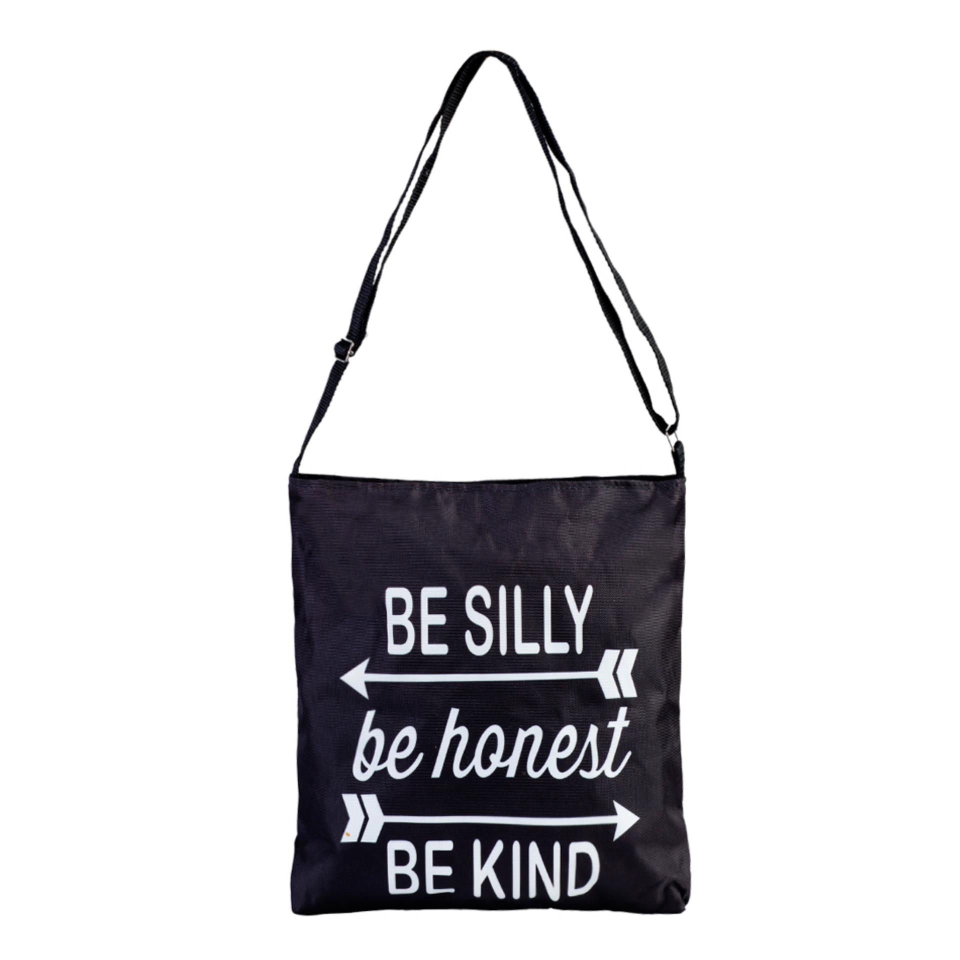 Túi Vải Tote Bag Có Dây Đeo Chéo Silly XinhStore