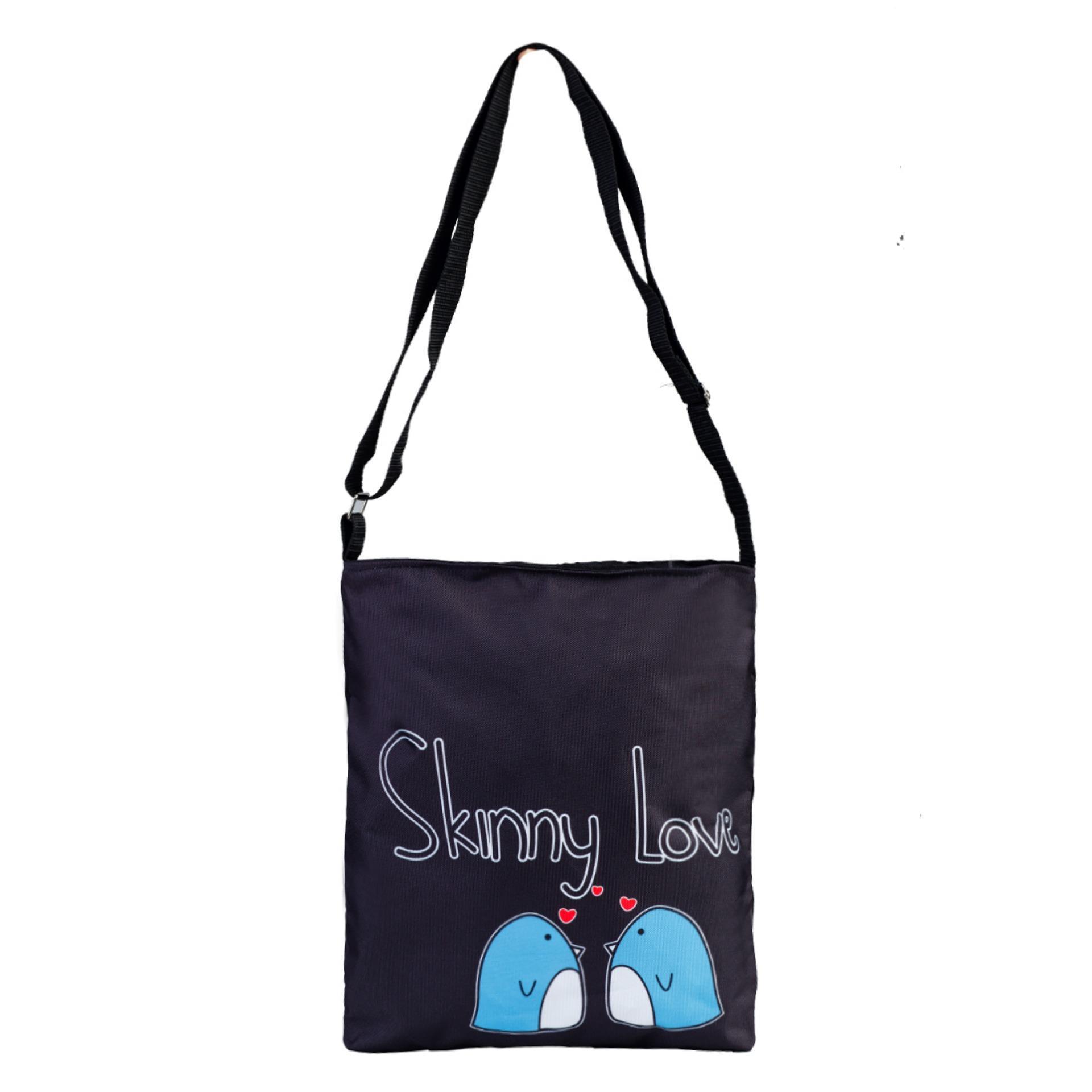 Túi Vải Tote Bag Có Dây Đeo Chéo Skinny XinhStore