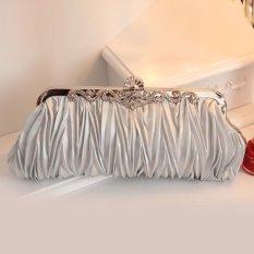 Giá Sốc Túi vải xa tanh màu bạc có đính tinh thể pha lê  crystalawaking