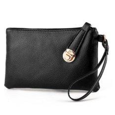 Túi ví cầm tay nắp cài xéo 208061 (đen)